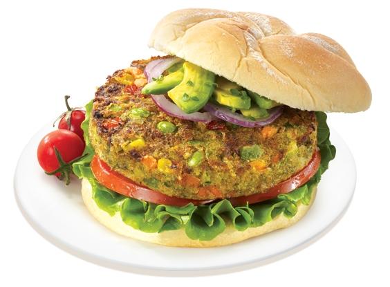 Presentation of Veggie Burger