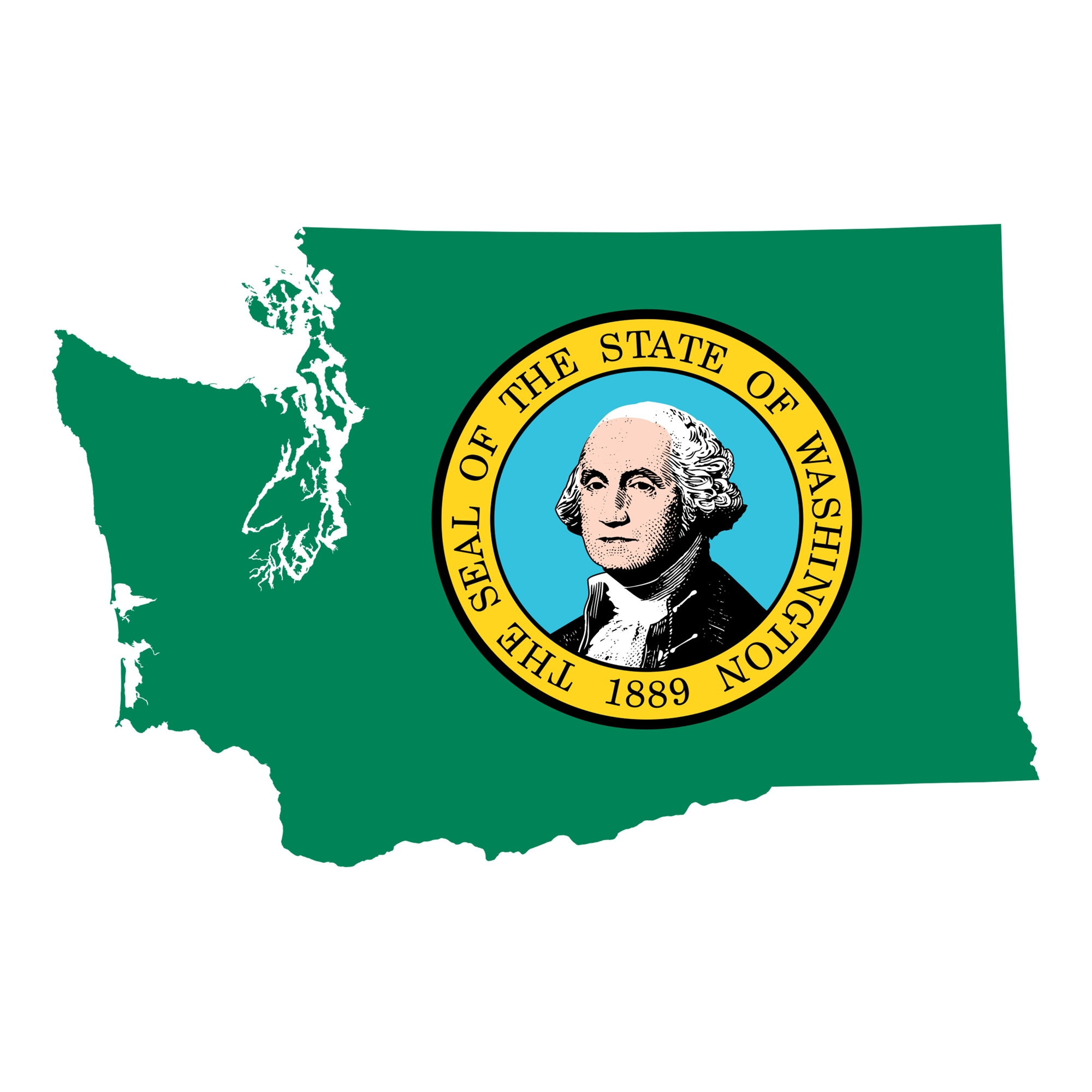 washington state map seal